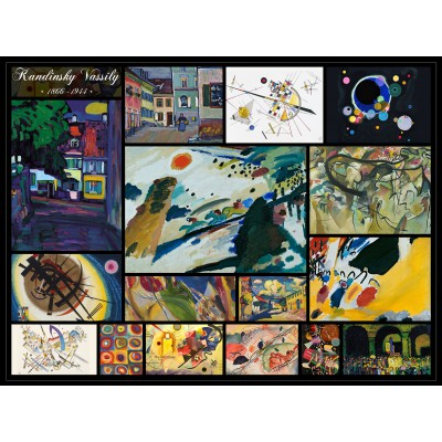 grafika-Puzzle - 2000 pieces - Vassily Kandinsky - Collage