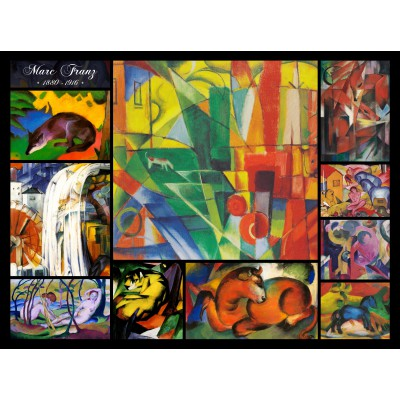 grafika-Puzzle - 2000 pieces - Franz Marc - Collage