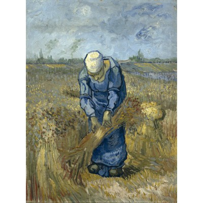 grafika-Puzzle - 2000 pieces - Vincent van Gogh - Peasant woman binding sheaves (after Millet)