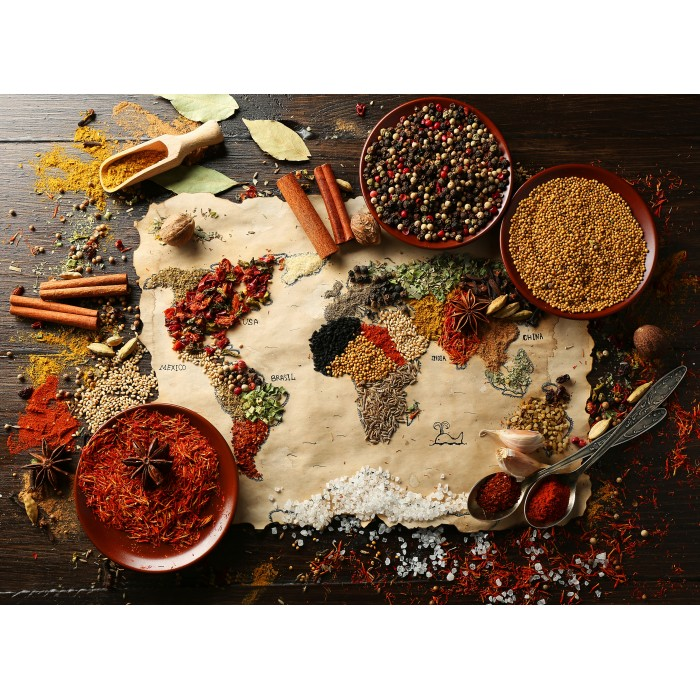 Puzzle Grafika-00985 World map in Spices