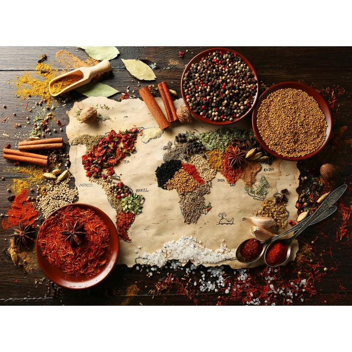 Puzzle Grafika-00993 World map in Spices