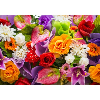 Puzzle  Grafika-01134 Artificial Bunch of Flowers