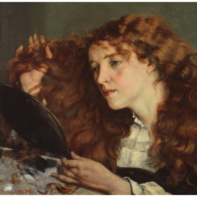 Puzzle  Grafika-01156 Gustave Courbet: Jo, the Beautiful Irish Girl, 1866