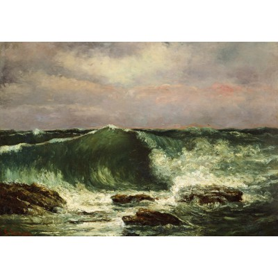 grafika-Puzzle - 1000 pieces - Gustave Courbet: Waves, 1870