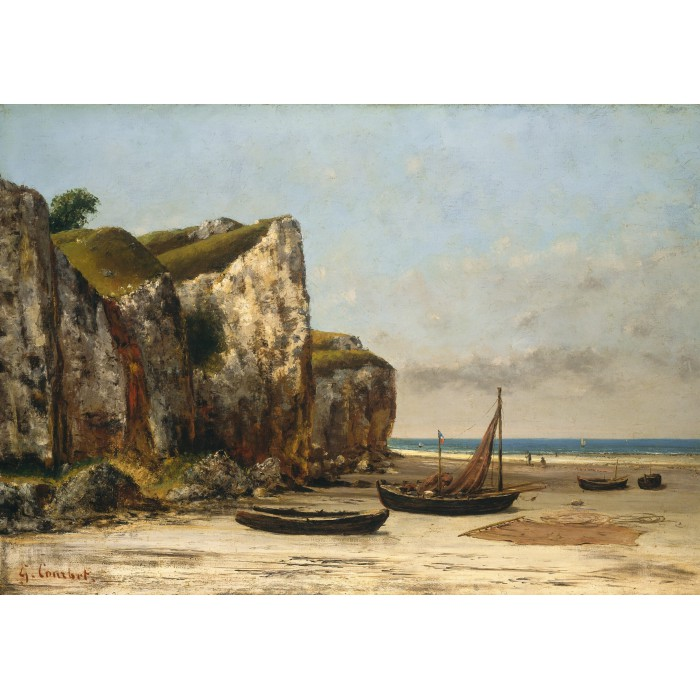 Puzzle Grafika-01158 Gustave Courbet: Beach in Normandy, 1872-1875