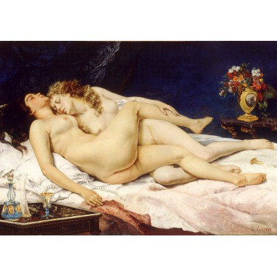 Puzzle  Grafika-01159 Gustave Courbet : The Sleepers, 1866