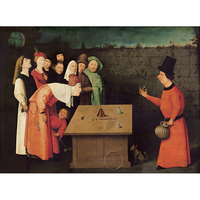 Puzzle Grafika-01163 Bosch: The Conjurer, 1502