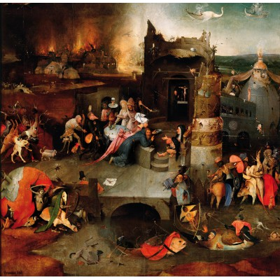grafika-Puzzle - 1500 pieces - Bosch: The Temptation of Saint Anthony, 1495-1515