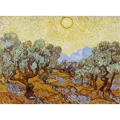 grafika-Puzzle - 2000 pieces - Vincent van Gogh: Olive Trees, 1889