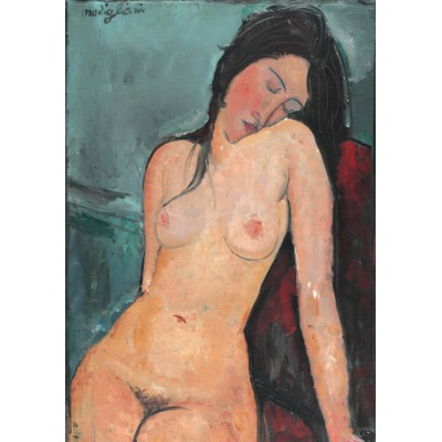grafika-Puzzle - 1000 pieces - Amedeo Modigliani: Seated Nude, 1916