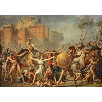 grafika-Puzzle - 1000 pieces - Jacques-Louis David: The Intervention of the Sabine Women, 1799