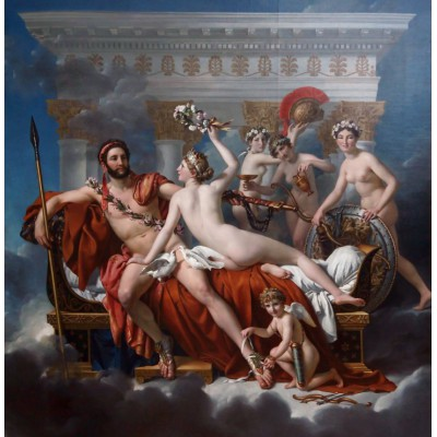 grafika-Puzzle - 1500 pieces - Jacques-Louis David: Mars Being Disarmed by Venus, 1824