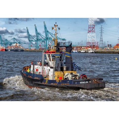Puzzle  Grafika-01260 Tugboat in Antwerp