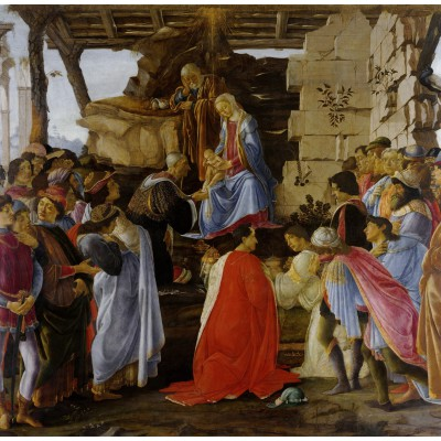 grafika-Puzzle - 1500 pieces - Sandro Botticelli: Adoration of the Magi (Zanobi Altar), 1475