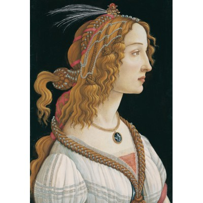 grafika-Puzzle - 1000 pieces - Sandro Botticelli: Portrait of a young Woman, 1494
