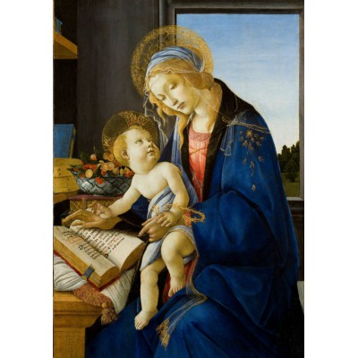 grafika-Puzzle - 1000 pieces - Sandro Botticelli: The Madonna of the Book, 1480