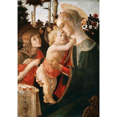 grafika-Puzzle - 1000 pieces - Sandro Botticelli: Virgin and Child with Young St John the Baptist, 1470-1475