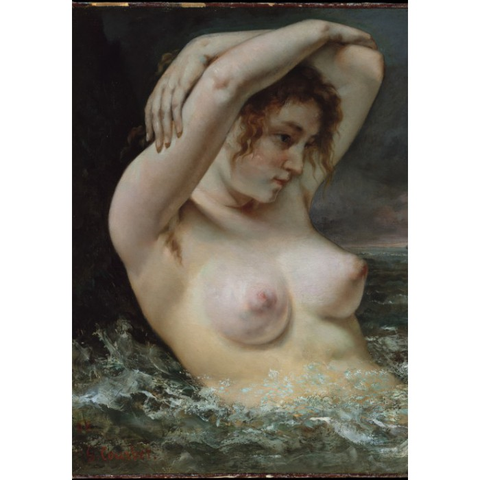 Puzzle Grafika-01289 Gustave Courbet: The Woman in the Waves, 1868