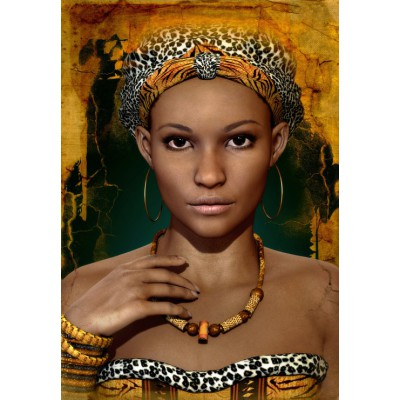 grafika-Puzzle - 3900 pieces - African Woman
