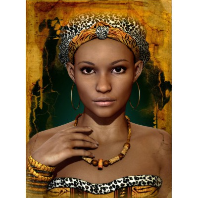 grafika-Puzzle - 2000 pieces - African Woman