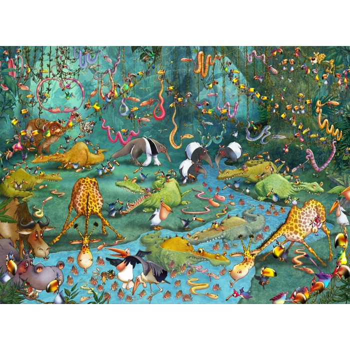 Puzzle Grafika-01423 François Ruyer: Jungle