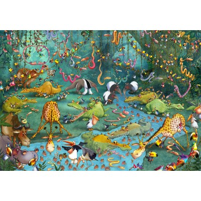 grafika-Puzzle - 1000 pieces - François Ruyer: Jungle