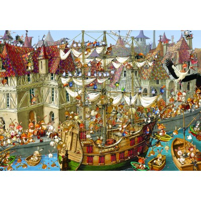 grafika-Puzzle - 1000 pieces - François Ruyer: Rabbits!