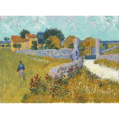 grafika-Puzzle - 2000 pieces - Vincent Van Gogh - Farmhouse in Provence, 1888