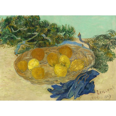 grafika-Puzzle - 2000 pieces - Vincent Van Gogh - Still Life of Oranges and Lemons with Blue Gloves, 1889