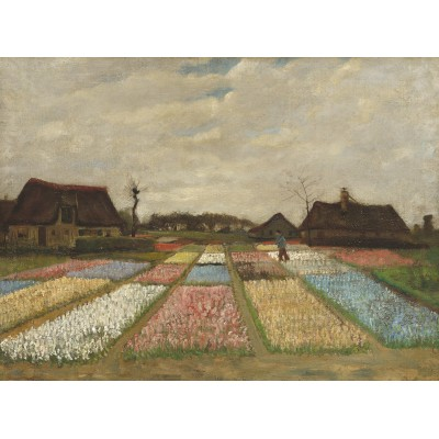 grafika-Puzzle - 2000 pieces - Vincent Van Gogh - Flower Beds in Holland, 1883