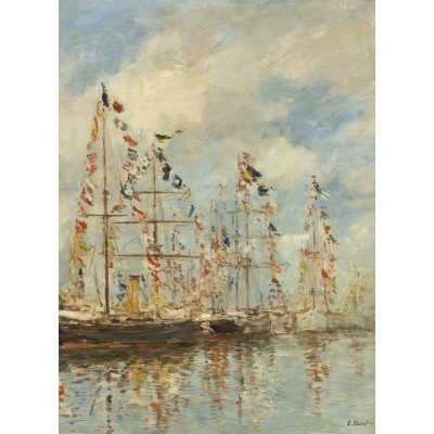 grafika-Puzzle - 300 pieces - Eugène Boudin - Yacht Basin at Trouville-Deauville, 1895/1896