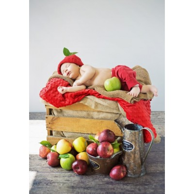 grafika-Puzzle - 1000 pieces - Konrad Bak: Baby and Apples