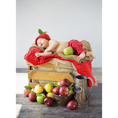 grafika-Puzzle - 300 pieces - Konrad Bak: Baby and Apples