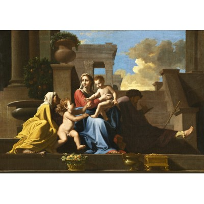 grafika-Puzzle - 1000 pieces - Nicolas Poussin: The Holy Family on the Steps, 1648