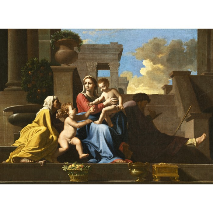 Puzzle Grafika-01699 Nicolas Poussin: The Holy Family on the Steps, 1648