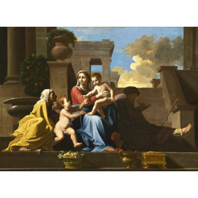 grafika-Puzzle - 300 pieces - Nicolas Poussin: The Holy Family on the Steps, 1648