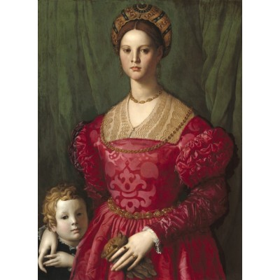 grafika-Puzzle - 300 pieces - Agnolo Bronzino: A Young Woman and Her Little Boy, 1540