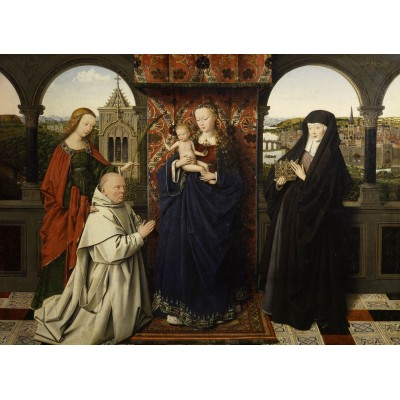 grafika-Puzzle - 300 pieces - Jan van Eyck - Virgin and Child, with Saints and Donor, 1441