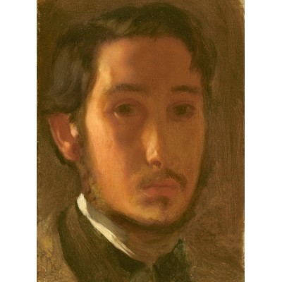 grafika-Puzzle - 2000 pieces - Edgar Degas: Self-Portrait with White Collar, 1857