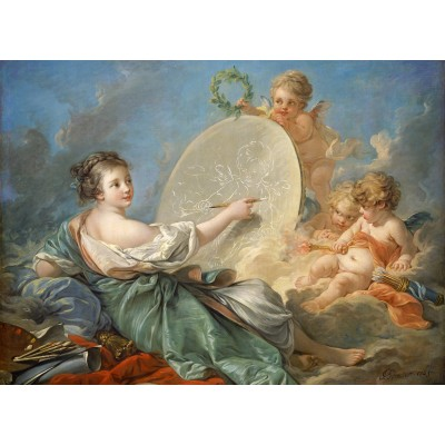 Puzzle  Grafika-01795 François Boucher: Allegory of Painting, 1765