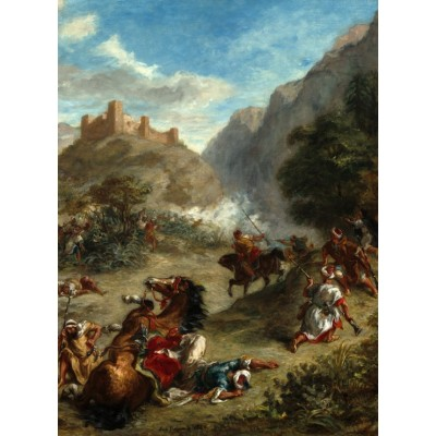grafika-Puzzle - 2000 pieces - Eugène Delacroix: Arabs Skirmishing in the Mountains, 1863