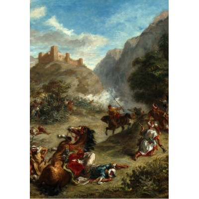 grafika-Puzzle - 1000 pieces - Eugène Delacroix: Arabs Skirmishing in the Mountains, 1863