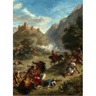 grafika-Puzzle - 300 pieces - Eugène Delacroix: Arabs Skirmishing in the Mountains, 1863