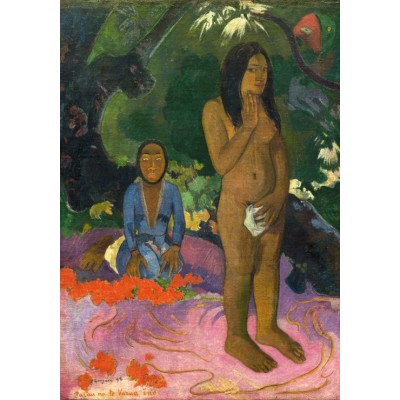 grafika-Puzzle - 1000 pieces - Paul Gauguin: Parau na te Varua ino (Words of the Devil), 1892