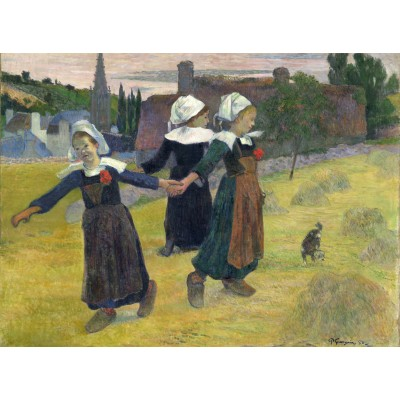 grafika-Puzzle - 2000 pieces - Paul Gauguin: Breton Girls Dancing, Pont-Aven, 1888
