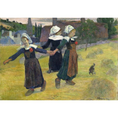 grafika-Puzzle - 1000 pieces - Paul Gauguin: Breton Girls Dancing, Pont-Aven, 1888