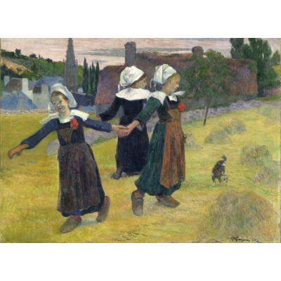 grafika-Puzzle - 300 pieces - Paul Gauguin: Breton Girls Dancing, Pont-Aven, 1888
