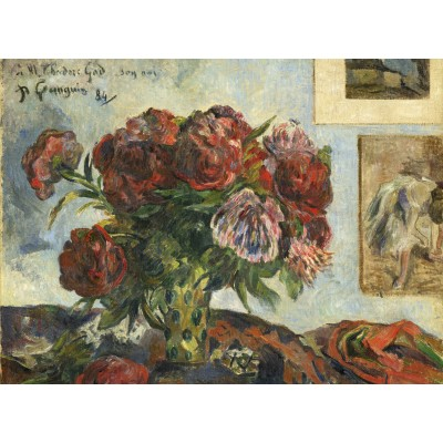 grafika-Puzzle - 2000 pieces - Paul Gauguin: Still Life with Peonies, 1884