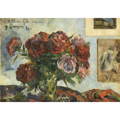 grafika-Puzzle - 1000 pieces - Paul Gauguin: Still Life with Peonies, 1884