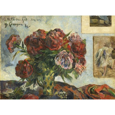 grafika-Puzzle - 300 pieces - Paul Gauguin: Still Life with Peonies, 1884